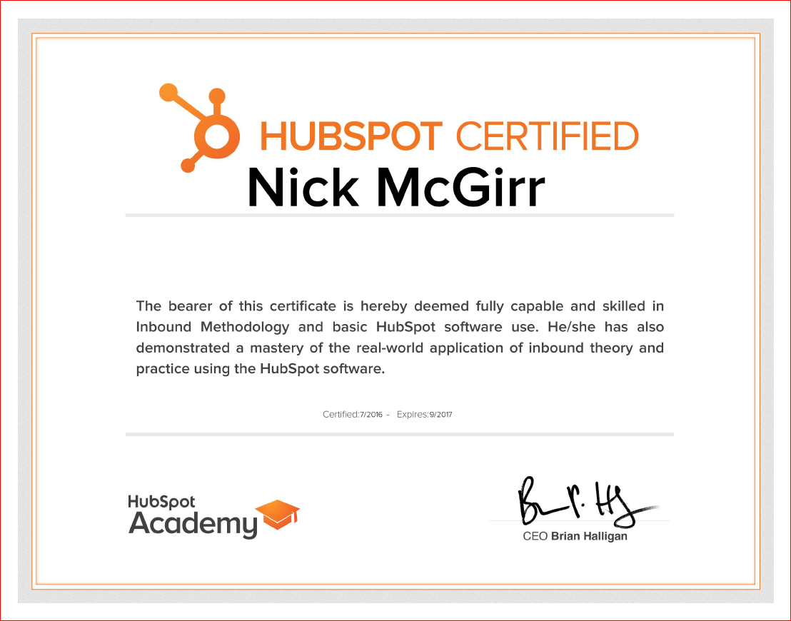 Hubspot certification hubspot certified inbound marketing certified